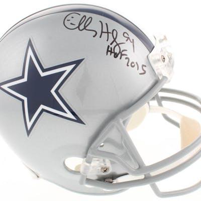 "Charles Haley Signed Dallas Cowboys Full-Size Helmet Inscribed ""HOF"