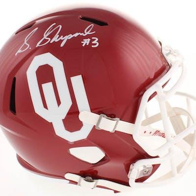 Sterling Shepard Signed Oklahoma Sooners Full-Size Speed Helmet (Fanatics