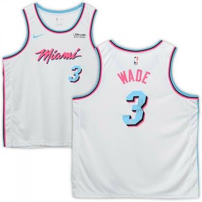 the latest bb068 c06d4 Dwyane Wade Signed Miami Heat White Vice Jersey (Fanatics ...
