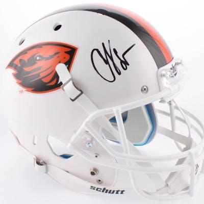 "Chad ""Ocho Cinco"" Johnson Signed Oregon State Beavers Full-Size Helmet"