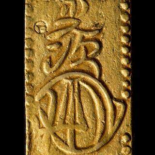 1832-60 Japan 2 Bu Shogunate Gold Coin