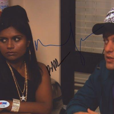 "Mindy Kaling & BJ Novak Signed ""The Office"" 8x10 Photo (PSA COA)"