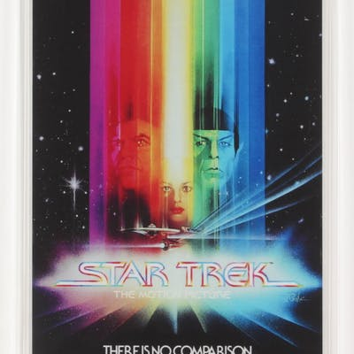 2018 Star Trek: The Motion Picture 35 gram Silver Foil Movie Poster