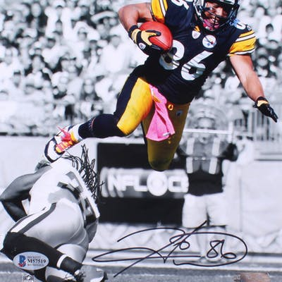 Hines Ward Signed Pittsburgh Steelers 8x10 Photo (Beckett COA)