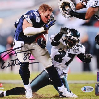 Jason Witten Signed Dallas Cowboys 8x10 Photo (Beckett COA & Witten Hologram)