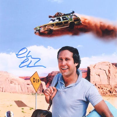 """Chevy Chase Signed """"National Lampoon's Vacation"""" 11x14 Photo (Beckett COA)"""