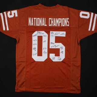 2005 Texas Longhorns National Champions Jersey Team-Signed by (20)