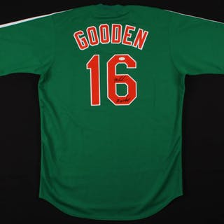 """Dwight Gooden Signed Jersey Inscribed """"86 WS Champs"""" (JSA COA)"""