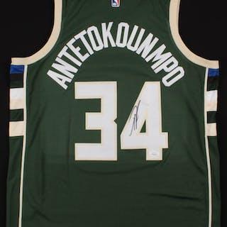 680af0fe Giannis Antetokounmpo Signed Milwaukee Bucks Jersey (JSA COA)