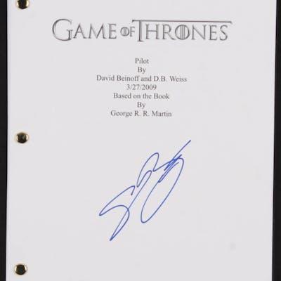 """Sean Bean Signed """"Game of Thrones: Pilot"""" Movie Script (JSA COA)"""