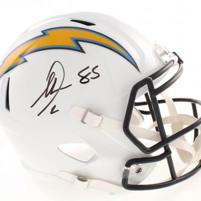 Antonio Gates Signed Los Angeles Chargers Full-Size Speed Helmet (Beckett COA)