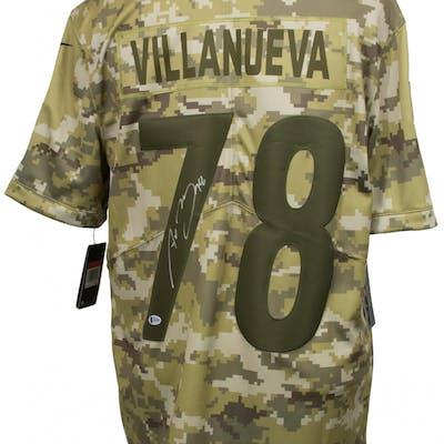 online store a31ad 8b953 Alejandro Villanueva Signed Pittsburgh Steelers