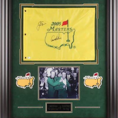 "Arnold Palmer & Jack Nicklaus Signed ""The Masters"" 29x35 Custom Framed"