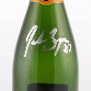 """Patrice Bergeron Signed """"Veuve Clicquot"""" Champagne Bottle (Bergeron COA)"""