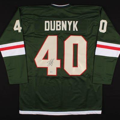 timeless design c8740 e87ff Devan Dubnyk Signed Minnesota Wild Jersey (Beckett COA ...