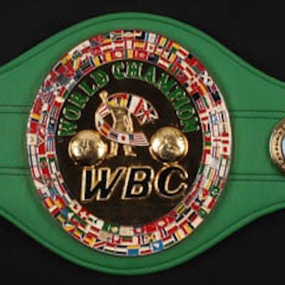 Floyd Mayweather Jr. Signed World Boxing Council World Champion Belt