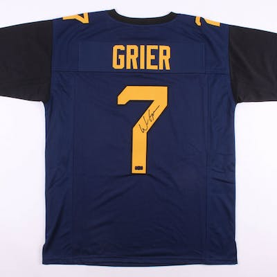 Will Grier Signed West Virginia Mountaineers Jersey (Radtke COA)