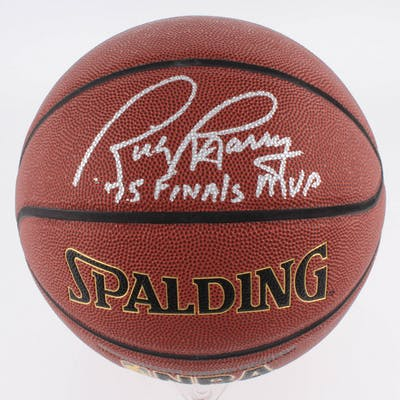 "Rick Barry Signed NBA Basketball Inscribed ""75 Finals MVP"" (Schwartz COA)"