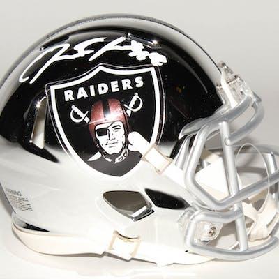 Josh Jacobs Signed Oakland Raiders Chrome Speed Mini Helmet (Radtke