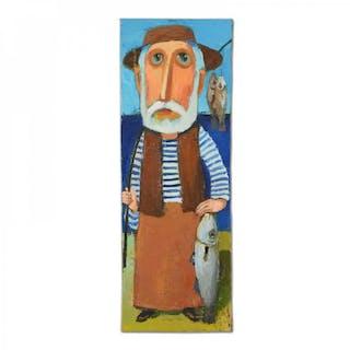 9a4c164d99692 Mikheil Mikaberidze Signed 7x20 Original Oil Painting on Canvas