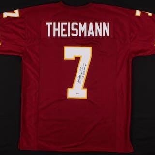 "Joe Theismann Signed Jersey Inscribed ""SB XVII Champs"" (Beckett COA)"