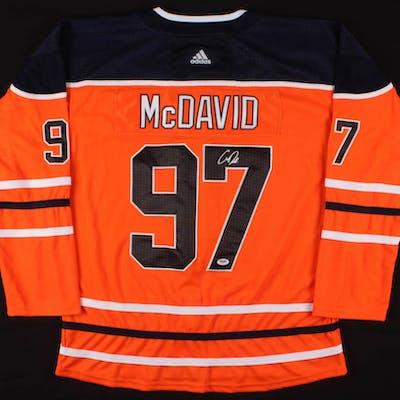 watch 8f8b1 234d6 Connor McDavid Signed Edmonton Oilers Captain Jersey (PSA ...