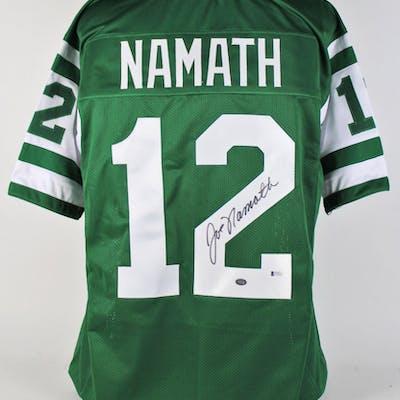 Joe Namath Signed New York Jets Jersey (Beckett COA & Namath Hologram)