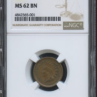 1864 1¢ Indian Head Penny (NGC MS 62 BN)
