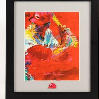 "LeRoy Neiman ""Pete Rose"" 11x15 Custom Framed Print with Pin"