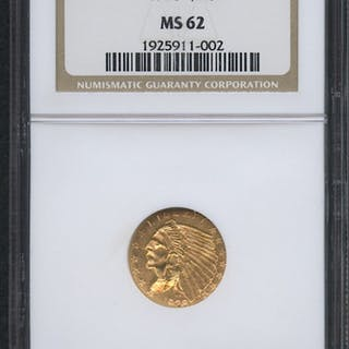 1928 $2.50 Indian Quarter Eagle Gold Coin (NGC MS 62)