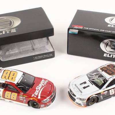 Lot of (2) Dale Earnhardt Jr. LE 1:24 Scale Die Cast Cars with (1)
