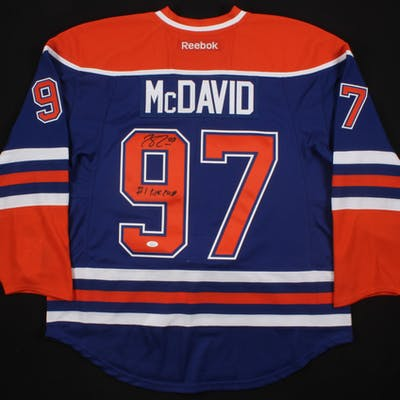 on sale 94eb8 06521 Connor McDavid Signed Oilers Reebok Authentic On-Ice Jersey ...