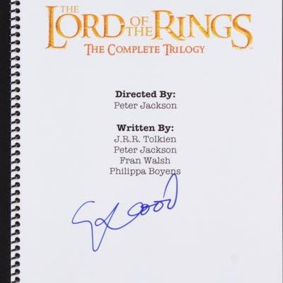 "Elijah Wood Signed ""The Lord of the Rings"" Complete Trilogy Script (JSA COA)"