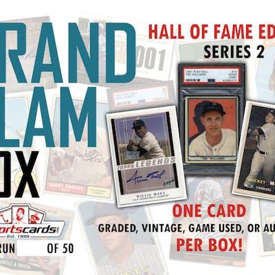 Grand Slam Box Hall Of Fame Baseball Card Edition Mystery Box