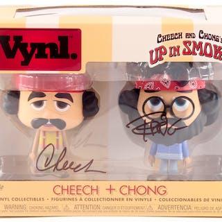 "Cheech Marin & Tommy Chong Signed ""Up in Smoke"" Cheech & Chong Funko"