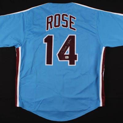 Pete Rose Signed Jersey (Fiterman Sports Hologram)