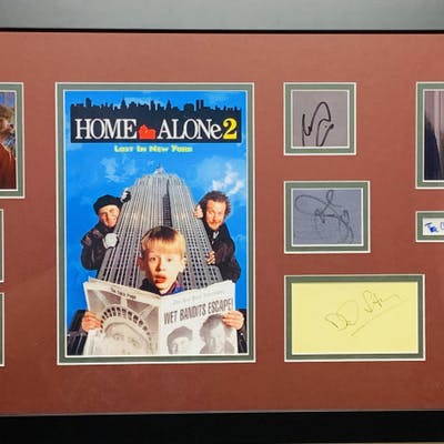 Home Alone 2: Lost in New York Cast-Signed 21x39 Custom Framed Display