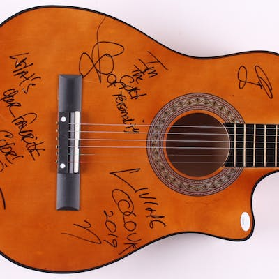 """Living Colour 38"""" Acoustic Guitar Signed by (4) with Vernon Reid"""