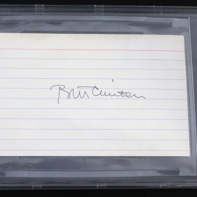 Bill Clinton Signed Index Card (Beckett Encapsulated)