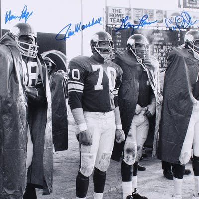 Minnesota Vikings Purple People Eaters 16x20 Photo Signed By (4) with