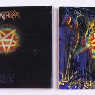"""Anthrax """"For All Kings"""" CD Insert Signed by (5) with Scott Ian, Charlie"""