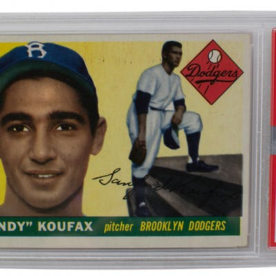 1955 Topps #123 Sandy Koufax RC (PSA 6)
