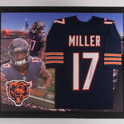 save off 167b8 7059e Anthony Miller Signed Chicago Bears 35.5x43.5 Custom Framed ...