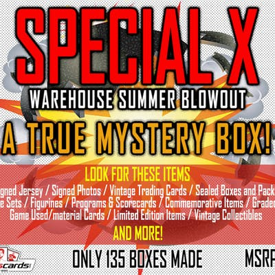 """SPECIAL X BLOWOUT BOX"" – A TRUE SPORTS MEMORABILIA MYSTERY BOX!"