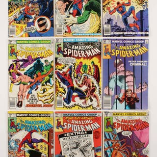 """Lot of (9) 1981 """"The Amazing Spider-Man"""" #212-219 Marvel Comic Books"""
