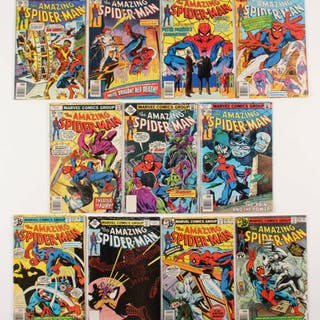"Lot of (11) 1978-79 ""The Amazing Spider-Man"" #179-190 Marvel Comic Books"