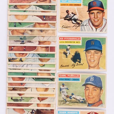 Lot Of 32 1956 Topps Baseball Cards With 180 Robin