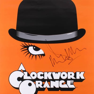 "Malcolm McDowell Signed ""A Clockwork Orange"" 24x36 Movie Poster (Radtke"