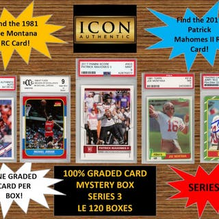 ICON AUTHENTIC 100% GRADED CARD MYSTERY BOX - SERIES 3 (Guaranteed
