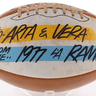 1977 Los Angeles Rams Football Team Signed By (31) with Joe Namath